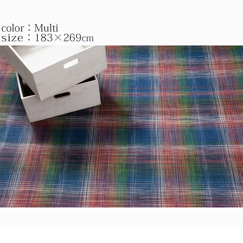 チルウィッチ ラグ マット Woven Plaid 183 215 269cm Fullangle Online Shop